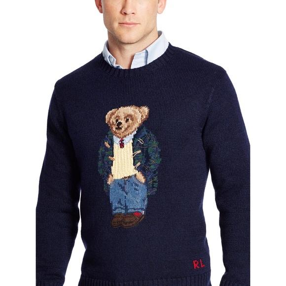 Polo Ralph Lauren Preppy Bear Sweater. Size XXXL